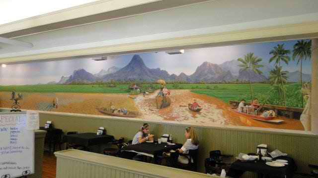 Architectural Details Corpus Christi Tx Mons Thai Restaurant Small Planet Mural Custom